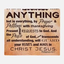 Philippians 4:6-7 Throw Blanket