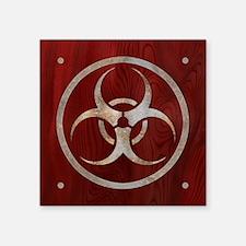 "biohaz-steelwood-TIL Square Sticker 3"" x 3"""