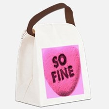 So Fine Canvas Lunch Bag