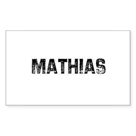 Mathias Rectangle Sticker