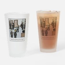 All White Office Drinking Glass