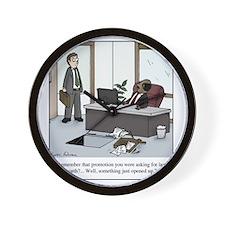 Job opening Wall Clock