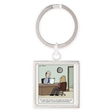 Competence Threat Square Keychain