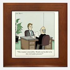 Resume Lie Framed Tile