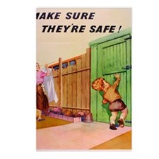 British Safety Poster - C Postcards (Package of 8)