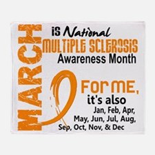 D MS Awareness Month Throw Blanket