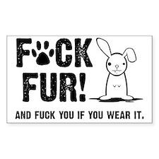 Fuck Fur Decal
