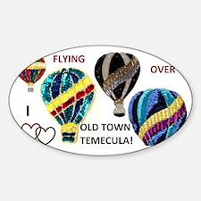 HOT AIR BALLOONS Sticker (Oval)