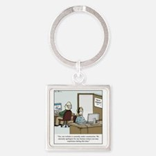 Human contact Square Keychain