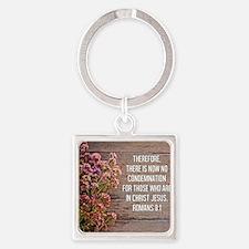 Romans 8:1 Square Keychain