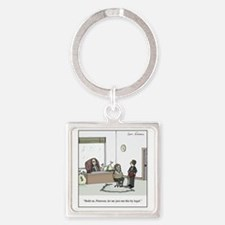 Run it by Legal Square Keychain