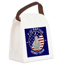 F-22 Raptor Demo Team Canvas Lunch Bag