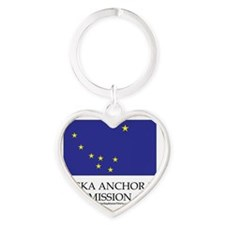 Alaska Anchorage Mission - Alaska F Heart Keychain