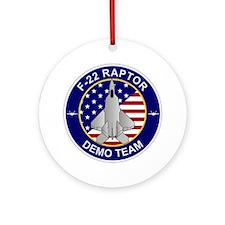 F-22 Raptor Demo Team Round Ornament