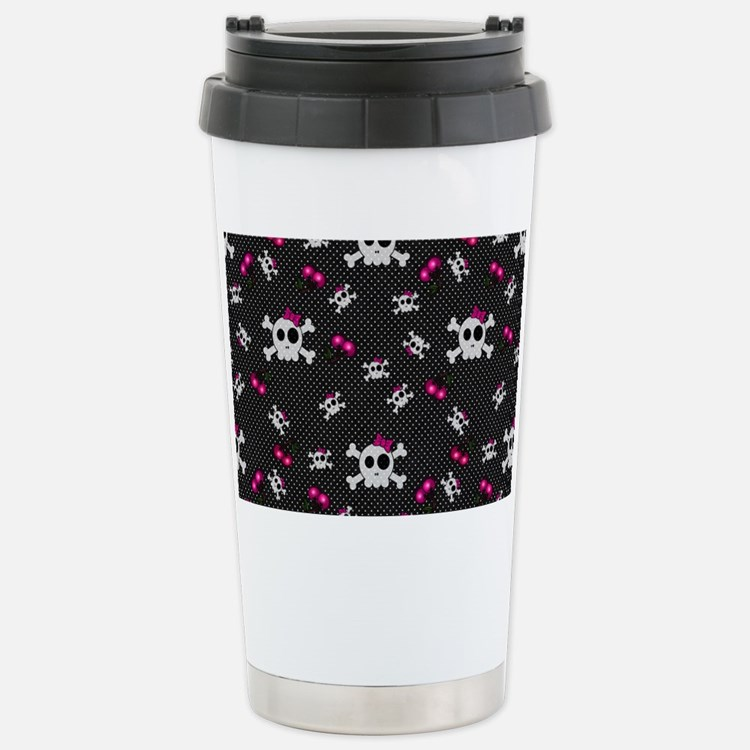 Girly Skulls Travel Mug