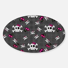 Girly Skulls Decal