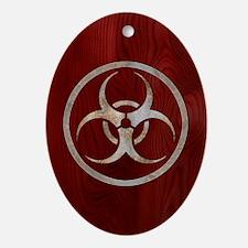 biohaz-steelwood-CRD Oval Ornament