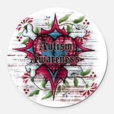 Autism Awareness Round Car Magnet