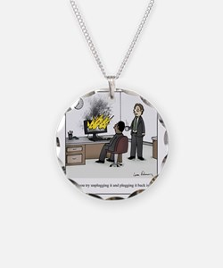 Unplug and plug back in Necklace