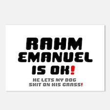 RAHM EMANUEL IS OK - HE L Postcards (Package of 8)