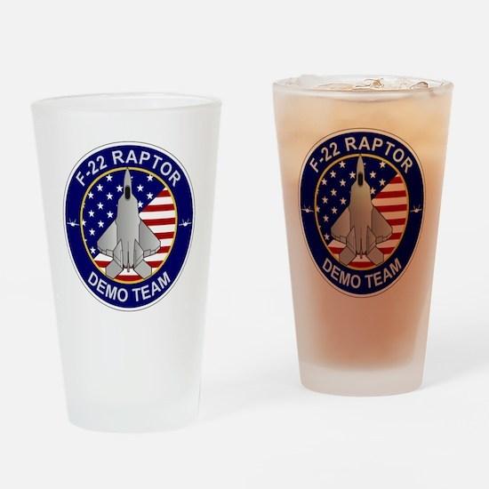 F-22 Raptor Demo Team Drinking Glass