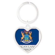 Michigan Lansing Mission - Michigan Heart Keychain