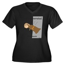 Brossassin S Women's Plus Size Dark V-Neck T-Shirt