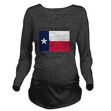Texas Houston  Missi Long Sleeve Maternity T-Shirt