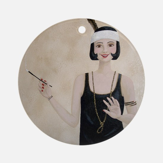 StephanieAM Flapper Round Ornament