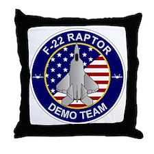 F-22 Raptor Demo Team Throw Pillow