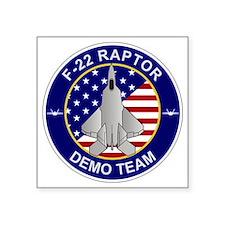"""F-22 Raptor Demo Team Square Sticker 3"""" x 3"""""""