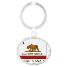 California Anaheim Mission - Califor Oval Keychain