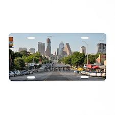 Austin_Rect_Color_DowntownW Aluminum License Plate