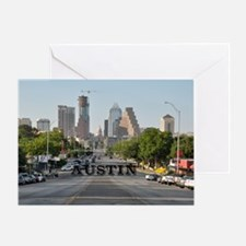 Austin_Rect_Color_DowntownWithCapito Greeting Card