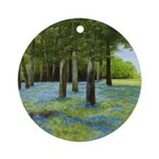 StephanieAM Bluebell W Round Ornament