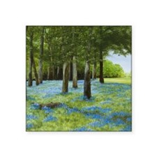 "StephanieAM Bluebell W Square Sticker 3"" x 3"""