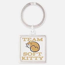 Team Soft Kitty Square Keychain