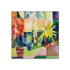 "August Macke Tropical Paint Square Sticker 3"" x 3"""