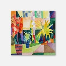 """August Macke Tropical Paint Square Sticker 3"""" x 3"""""""