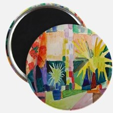 August Macke Tropical Painting Magnet