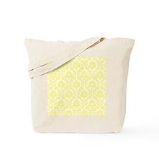 Light Yellow Damask Tote Bag
