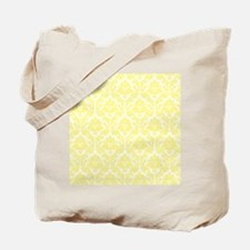 Light Yellow Damask Tote Bag