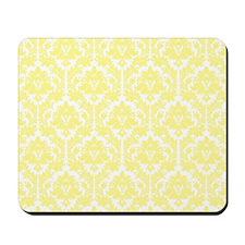 Light Yellow Damask Mousepad