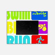 TRI Swim Bike Run Figures Picture Frame
