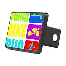 TRI Swim Bike Run Figures Hitch Cover
