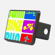 TRI Swim Bike Run Figures Hitch Cover