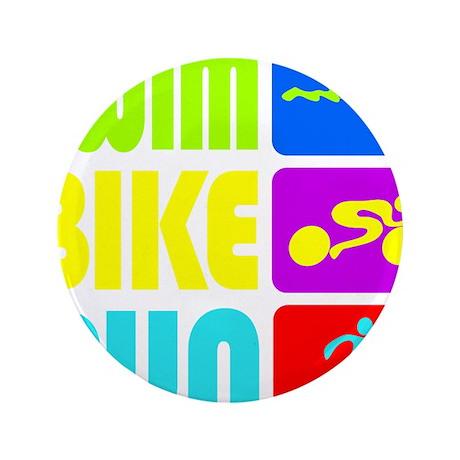 "TRI Swim Bike Run Figures 3.5"" Button"