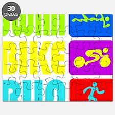 TRI Swim Bike Run Figures Puzzle
