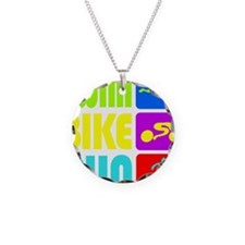 TRI Swim Bike Run Figures Necklace