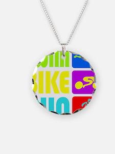 TRI Swim Bike Run Figures Necklace